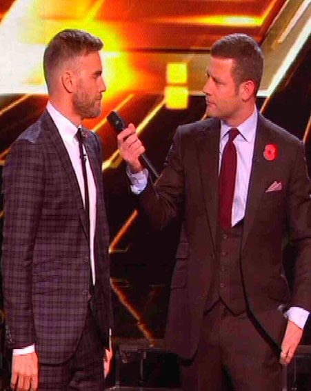 Gary Barlow was furious when Dermot O'Leary announced that Kye Sones was leaving the competition