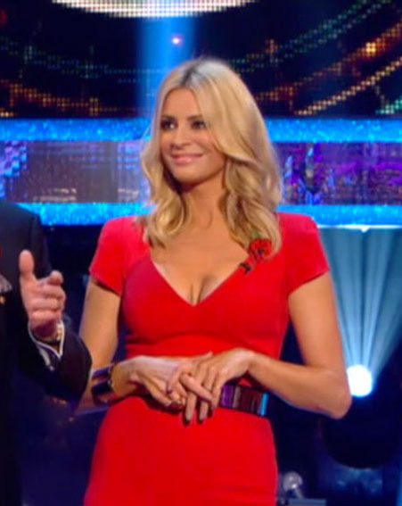 Tess Daly's cleavage was the talk of last night's Strictly Come Dancing