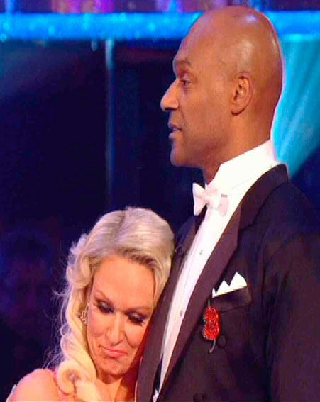 Colin Salmon and his partner Kristina Rihanoff were sent home on last night's Strictly Come Dancing