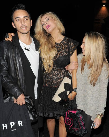 Nicola McLean left the Lipsy London launch party looking a little worse for wear