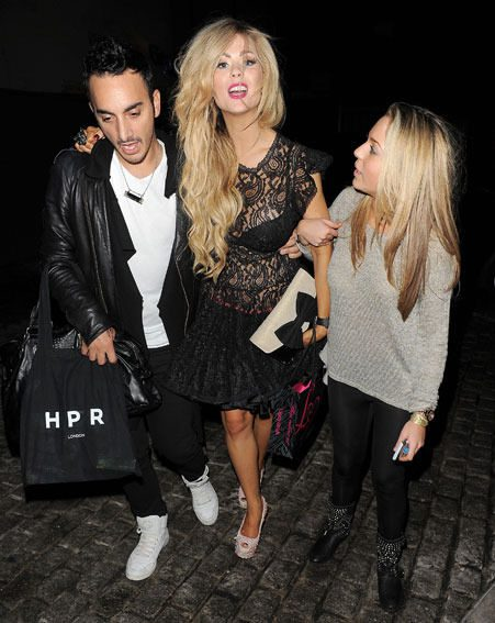 Celebrity Big Brother star Nicola McLean had to be propped up by two friends