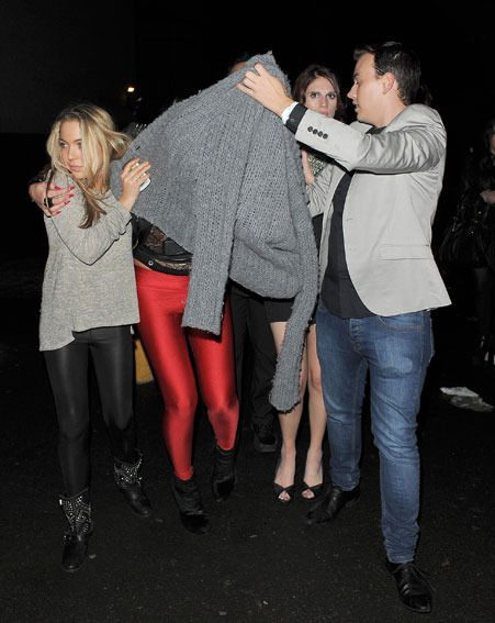 Aisleyne Horgan-Wallace was covered up as she left the Lipsy bash