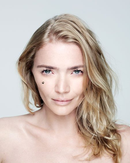 Jodie Kidd has joined Abbey Clancy in posing without make up for the BareFaced Day campaign