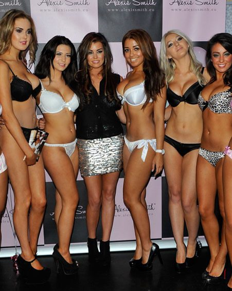 TOWIE babe Jessica Wright surrounded herself by underwear-clad ladies at the launch