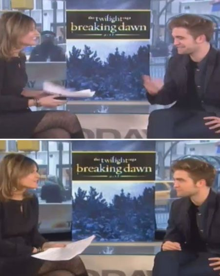 Robert Pattinson appeared on Today to promote Twilight Saga Breaking Dawn: Part 2