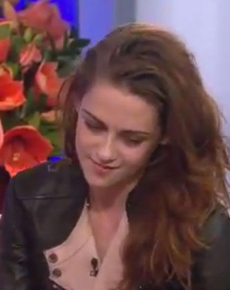 Kristen Stewart avoided the questions about her and Robert Pattinson in an interview yesterday