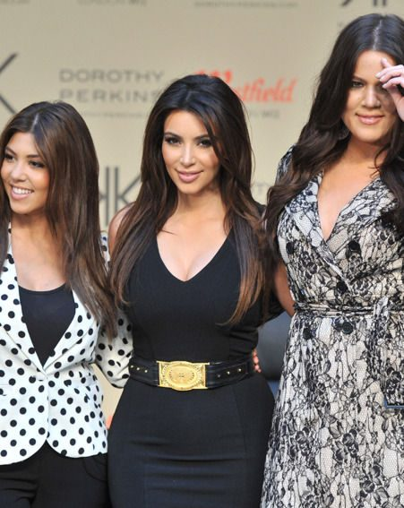 Kim Kardashian and sisters Khloe and Kourtney appear at Westfield shopping centre