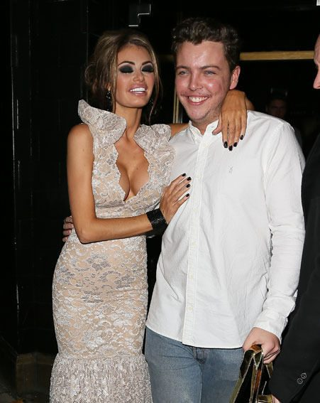 Chloe Sims' TOWIE pal Diags showed his support at the book launch last night