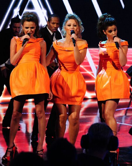 Girls Aloud stars Cheryl Cole, Kimberley Walsh and Nadine Coyle performing on Children In Need