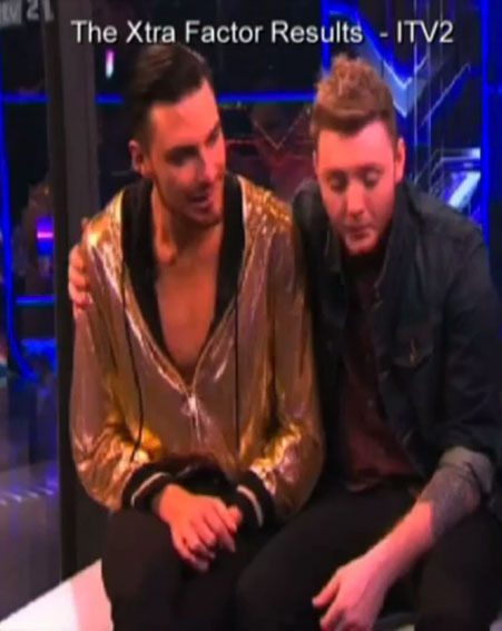 James Arthur tried to comfort Rylan Clark while he explained his guilt over losing Ella Henderson