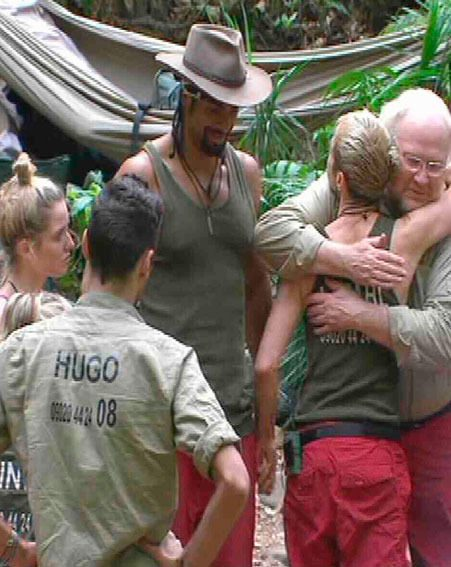 Limahl said an emotion goodbye to his I'm A Celebrity campmates last night