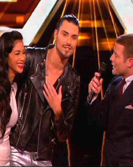 Rylan Clark thanked fans for their support when he was booted off The X Factor 2012