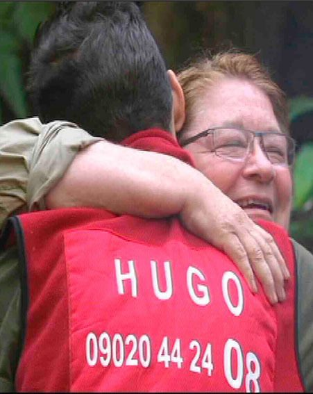 Rosemary Shrager said a heartfelt goodbye to Hugo after their lover's spat