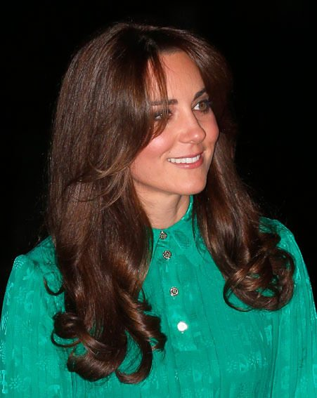 Kate Middleton has changed her look, opting for a sweeping side fringe