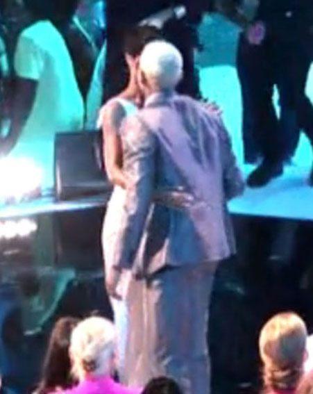 Chris Brown congratulated Rihanna with a kiss at the MTV VMAs earlier this year