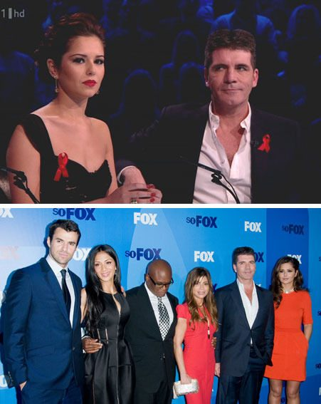Cheryl Cole and Simon Cowell worked together on the UK and USA X Factor