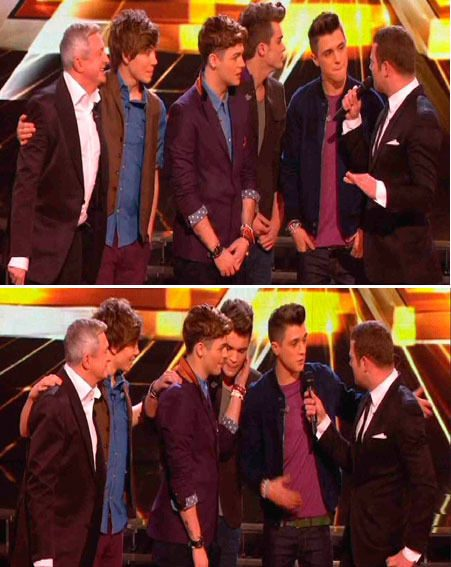 Louis Walsh's group, Union J were voted off The X Factor semi-final last night