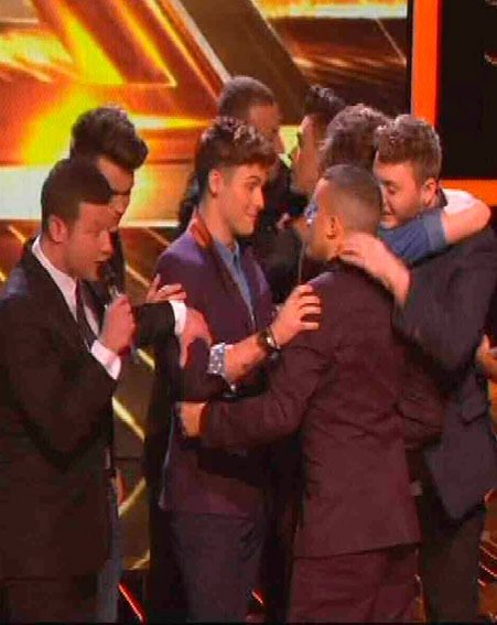 James Arthur, Jahmene Douglas and Chris Maloney said an emotion farewell to Union J