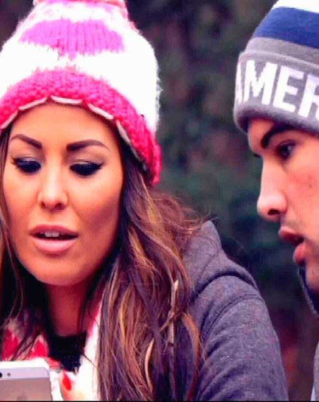 Jessica Wright received a flirty text from Tom Pearce while she was on a walk with Ricky Rayment