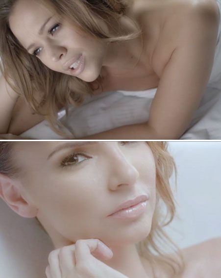 Kimberley Walsh and Nadine Coyle look stunning in the Beautiful 'Cause You Love Me video