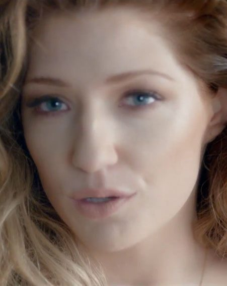 Nicola Robert put on her best sexy face for the Beautiful 'Cause You Love Me music video