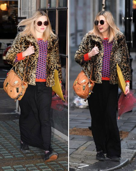 Fearne Cotton looked her usual stylish self as she stepped out in the freezing conditions
