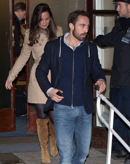 Pippa Middleton and her brother James visited the Duchess of Cambridge in hospital last night