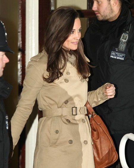 Kate Middleton's sister was all smiles after seeing the pregnant Duchess of Cambridge