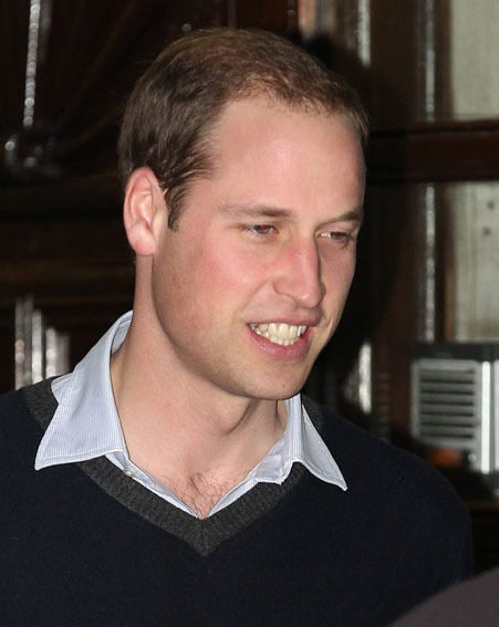 Prince William joined Kate Middleton's siblings Pippa and James at the London hospital
