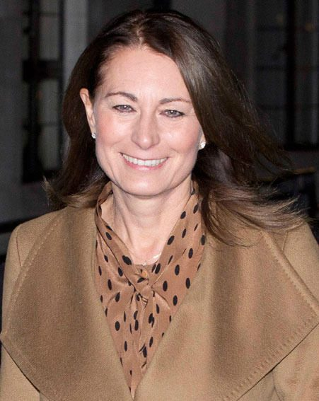 Kate Middleton's mum, Carole joined her daughter later that evening