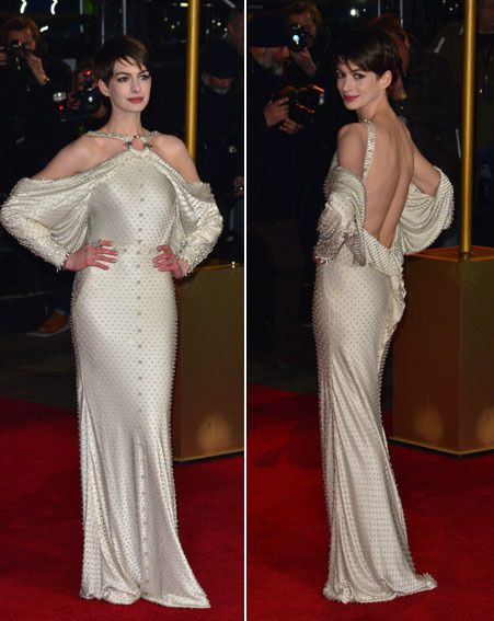 Anne Hathaway looked stunning in her backless Givenchy gown