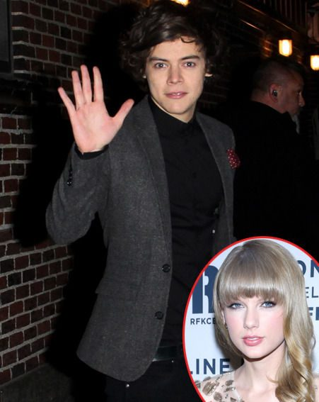 Harry Styles had his serious face on, after Taylor Swift had revealed her dating worries