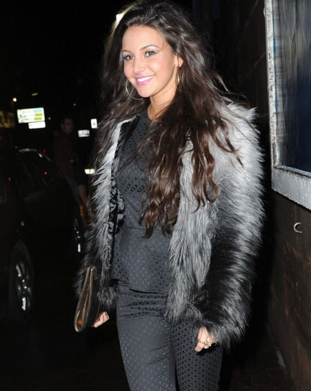 Michelle Keegan looked her usual stunning self as she joined Coronation Street stars for a night out