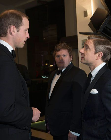 Prince William chatted to the stars of The Hobbit: An Unexpected Journey at the UK premiere