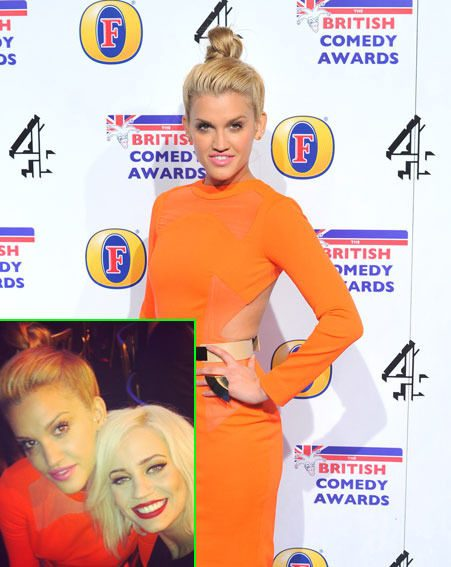Ashley Roberts met up with Pussycat Doll Kimberley Wyatt at the British Comedy Awards 2012