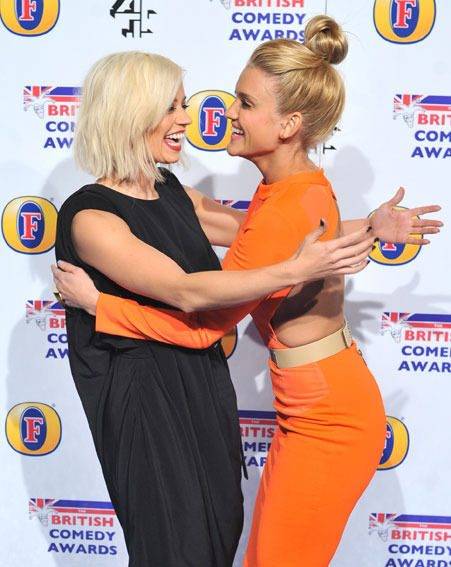 Pussycat Dolls Ashley Roberts and Kimberley Wyatt attended the British Comedy Awards last night