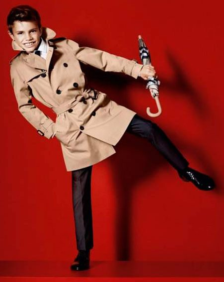 Romeo Beckham has been unveiled as the new face of Burberry