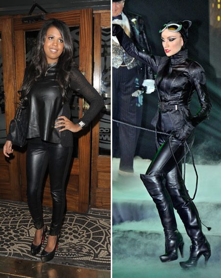 TOWIE's Danni Park-Dempsey donned a Catwoman inspired outfit for the TOWIE Christmas party