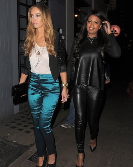 Lauren Pope joined Danni Park-Dempsey at the  Groucho Club in Soho