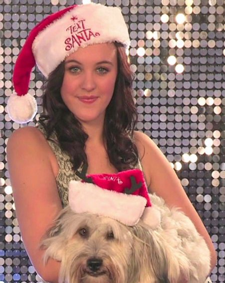 Britain's Got Talent winners Ashleigh and Pudsey recorded the Christmas vid for Text Santa