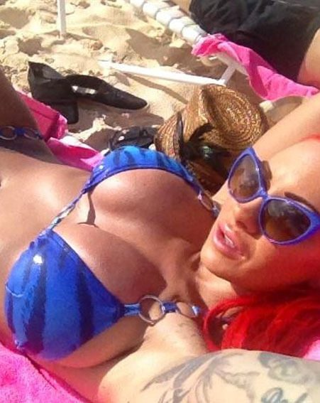 Jodie Marsh posted a stream of bikini pictures on Twitter today