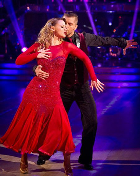 Kimberley Walsh has made it through to tomorrow night's Strictly Come Dancing 2012 final
