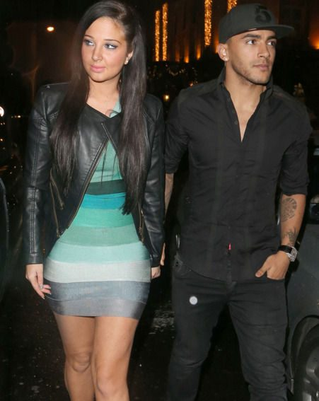 Tulisa and Danny Simpson looked couply and held hands tightly on a night out