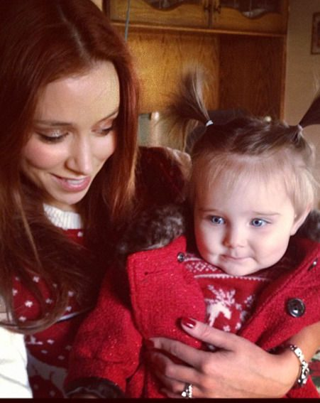 Una Healy and Ben Foden keep their fans up to date with Aoife Belle's daily adventures on Twitter