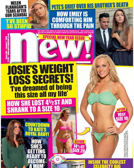 Josie Gibson talks weight loss and dieting in this week's brand-new magazine