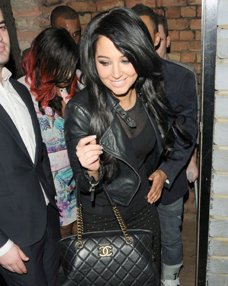 Tulisa and Danny Simpson enjoyed a night out to celebrate his birthday