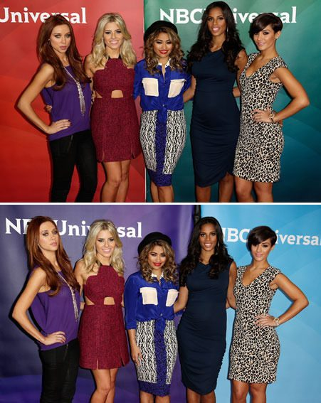The Saturdays have been promoting their album and new reality show in LA