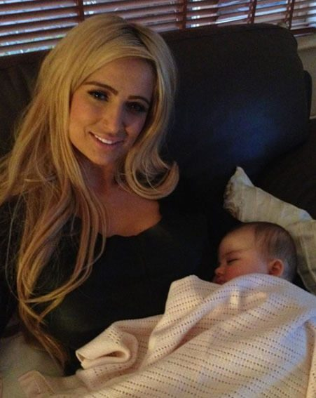 Chantelle Houghton spent New Year's Eve at home with her daughter Dolly