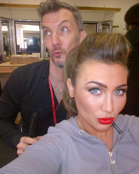 Lauren Goodger showed off her Dancing On Ice makeover in this Twitter snap