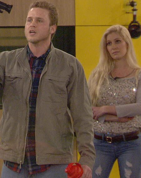 Spencer Pratt and Heidi Montag during the bitter spat with CBB contestant Rylan Clark